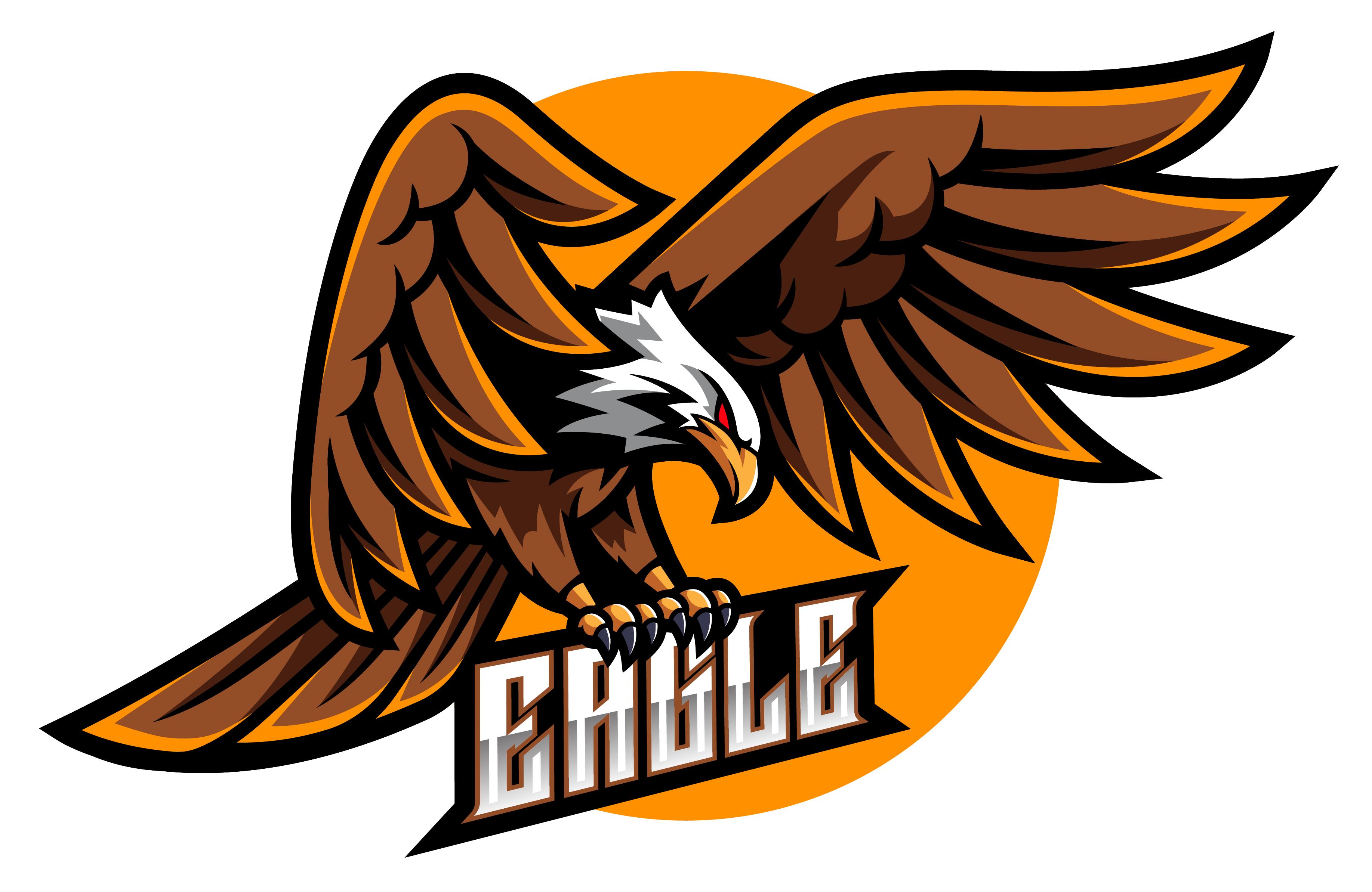 Eagle esport mascot logo design By Visink TheHungryJPEG