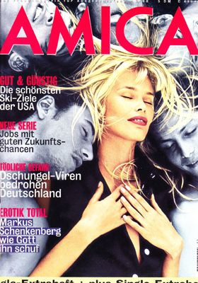 AMICA Deutsch - 1998 February - Claudia Schiffer Photographer Bruce Weber