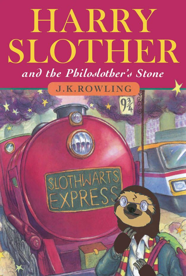 11 Book Covers Improved By Sloths Harry Potter Book Covers
