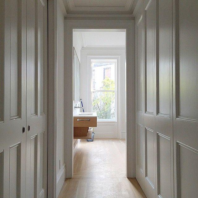 Brent Allen Buck On Instagram Brownstone Looking Into Bathroom Closet To Right One More Floor To Go Brownstone Gut Brownstone Interior Design Flooring