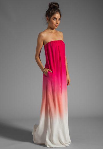 Pink ombré maxi dress. / lo ame | Estilo | Pinterest | Broke ...