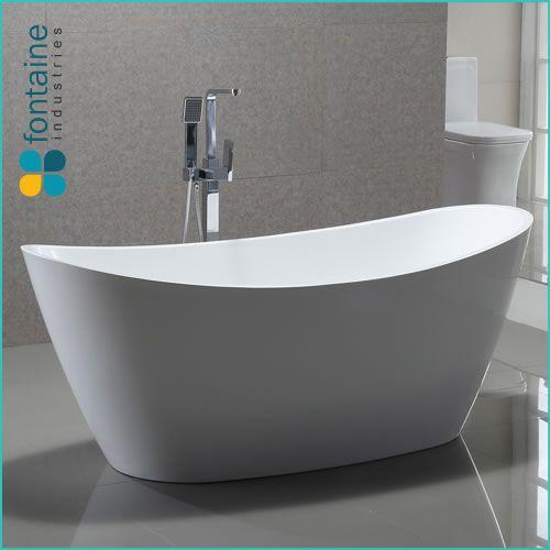 Ophelia 1800 Beautiful Luxurious Curves Freestanding White Bath ...