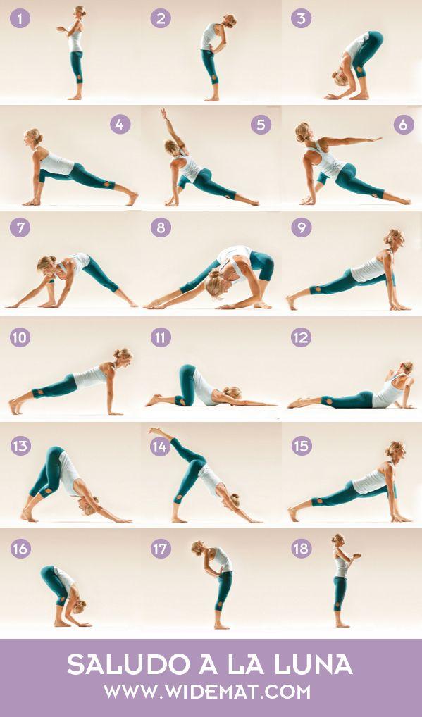 Saludo A La Luna Paso A Paso Y Sus Beneficios Widemat Ejercicios De Yoga Estiramientos De Yoga Yoga Estiramientos