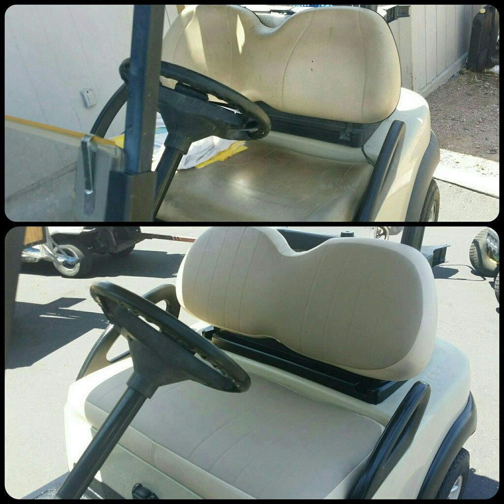 Before And After Golf Cart Seat Upholstery Demasc Rat Rod