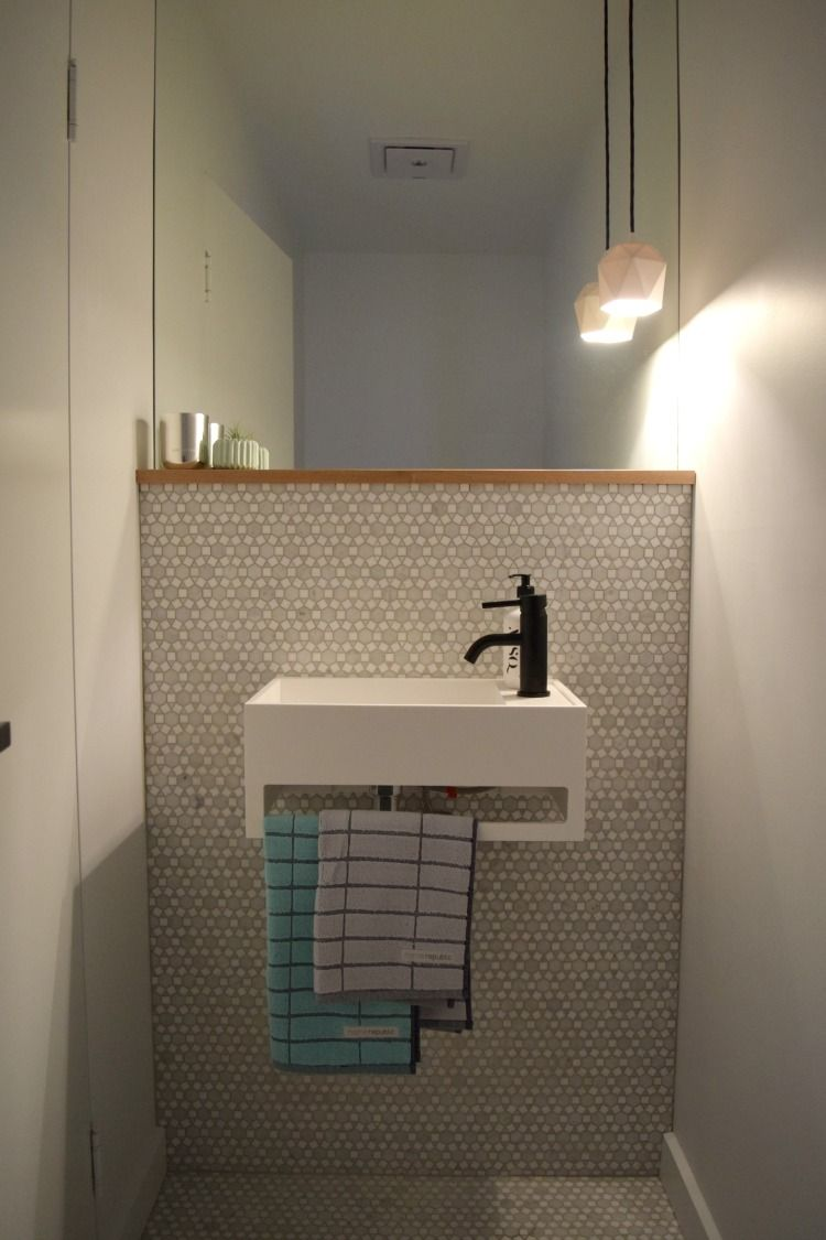 Mini Room Reveal: Ginau0027s Powder Room. Small Bathroom SinksSmallest ...