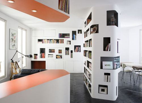 U201cFront And Backu201d Apartment By H2o Architects For A Young Parisian  Advertising Executive Also Ideas
