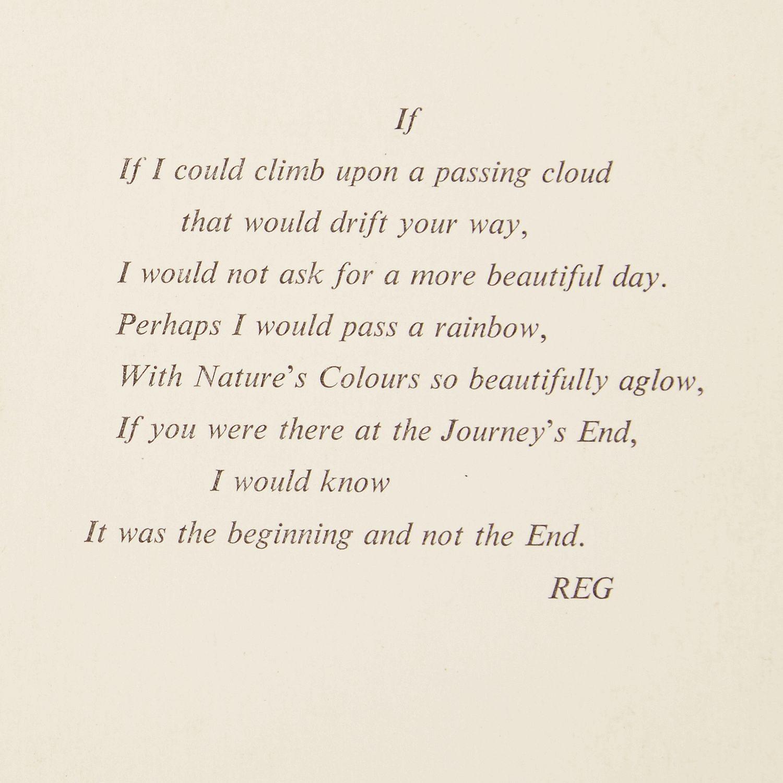 Regs Poem For Franies Funeral The Krays Sun Online Sayings