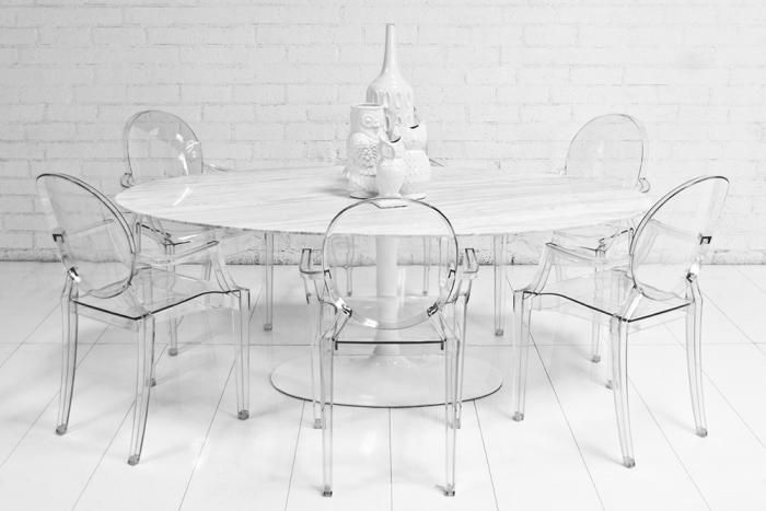"78"" Oval Imported Marble Tulip Dining Table  Working  Pinterest Prepossessing White Oval Dining Room Table Decorating Design"