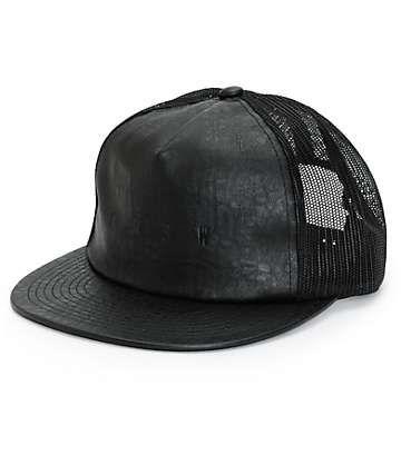 268fc41d5cf KR3W Lock Out Leather Trucker Hat