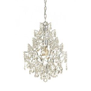 AF Lighting Cosmo Edison Base Mini Chandelier, Chrome Plated Frame, Strong Clear Glass Accents