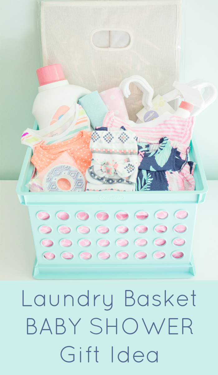 Laundry basket baby shower gift laundry babies and gift darling diy laundry basket baby shower gift basket idea via the inspired hive do it yourself gift baskets ideas for all occasions shared by career path solutioingenieria Choice Image