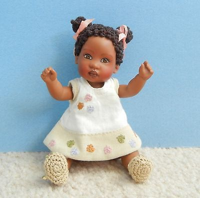 "Jessamyn Club doll by Helen Kish - 6"" black AA ethnic baby + original outfit"