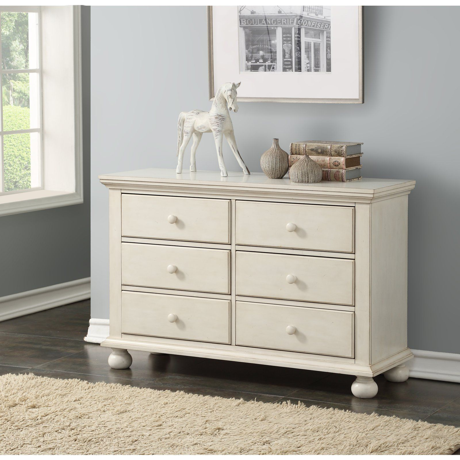 Comfort Pointe Alida 6 Drawer Dresser White 6 Drawer Dresser 6 Drawer Dresser Furniture [ 1600 x 1600 Pixel ]