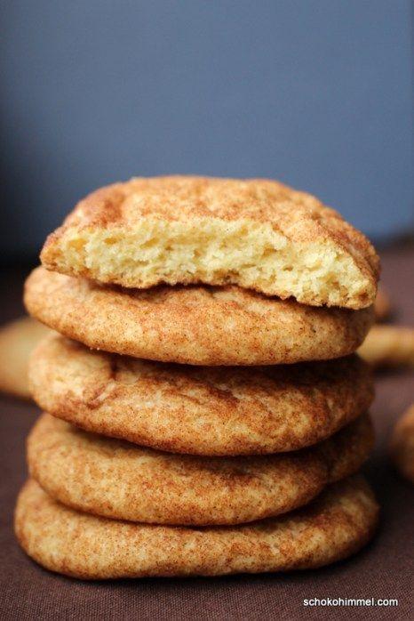 Perfekt für Weihnachten: Snickerdoodle Cookies (Kekse mit Zimt & Zucker) - Schokohimmel
