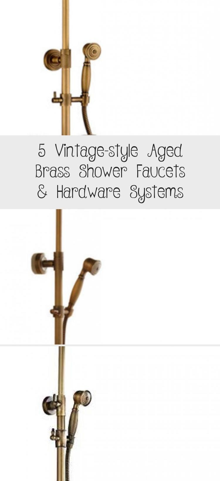 Photo of 5 Vintage-style Aged Brass Shower Faucets & Hardware Systems – Galafashion, Street Style, Out…