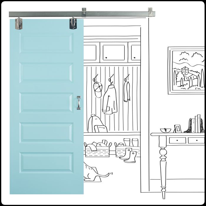 Create sliding barn doors with parts available at Lowes!  sc 1 st  Pinterest & Create sliding barn doors with parts available at Lowes! | Ideas ... pezcame.com