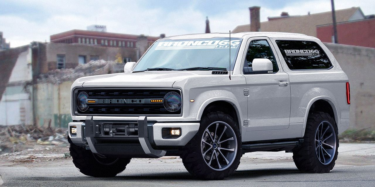 A Fan Rendered Design From Bronco6g Com Of A 2020 Ford Bronco