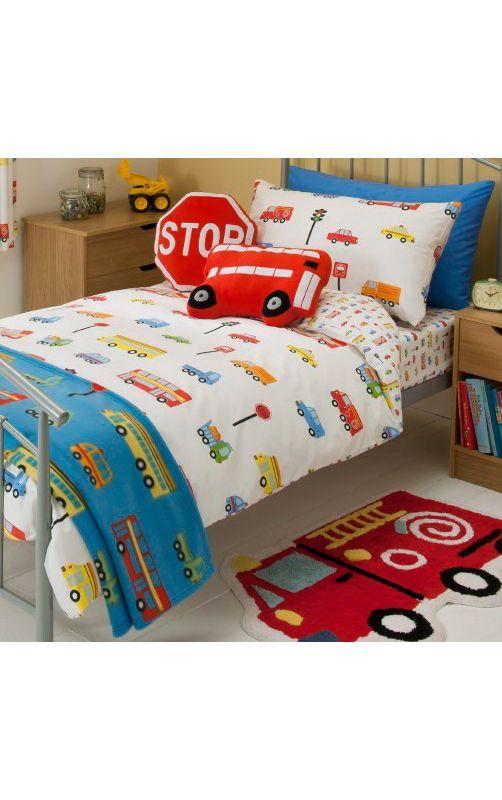 George Home Transport Duvet Set Single Kids Asda Direct Boy Toddler Bedroom Diy Toddler Bed Toddler Boys Room