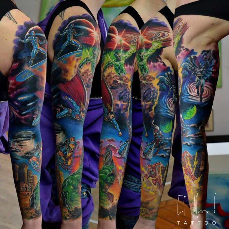 superhero tattoos Superhero Hand Tattoo Superhero
