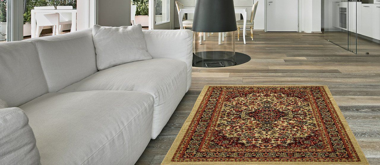 Anti Bacterial Rubber Back Area Rugs Non Skid Slip 3x5 Floor Rug Ivory Traditional Floral Indoor Outdoor Kitchen Rugs And Mats Rugs In Living Room Area Rugs