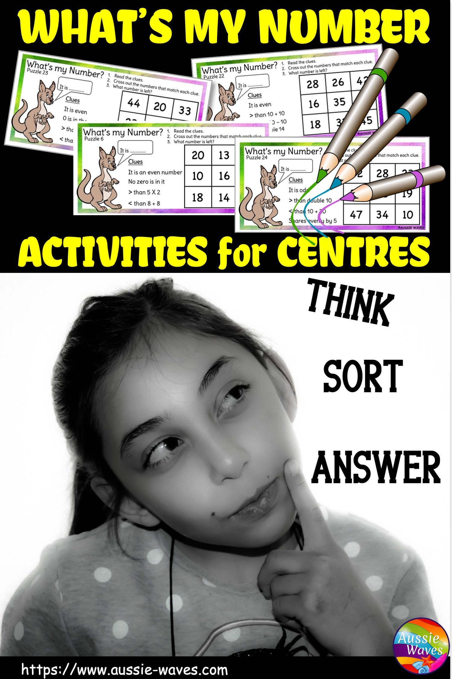 Number Puzzles For Math Centres Year 1 In