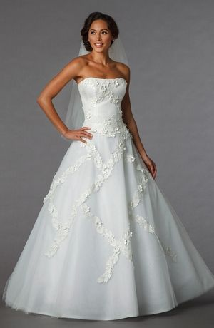 Strapless Princess/Ball Gown Wedding Dress with Natural Waist in ...