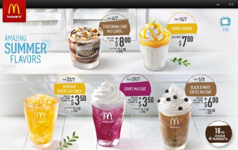 Macdonald Soft Drink Prices