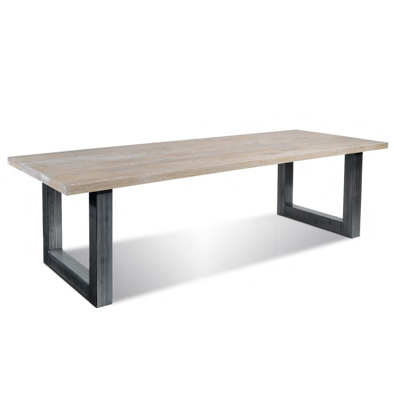 Decoration Ideas, : Dining Table Design Idea With Aged White Wooden  Tabletop Combine With Black