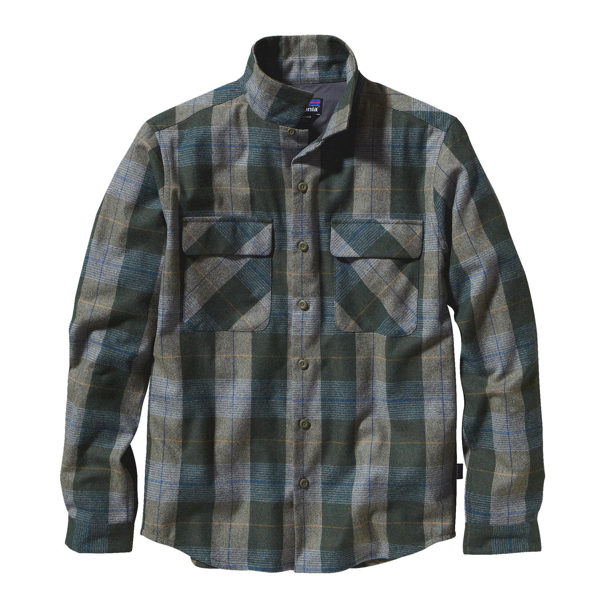 Wool cashmere flannel jacket  Patagonia  Menus LongSleeved Gerard Shirt  A traditional open