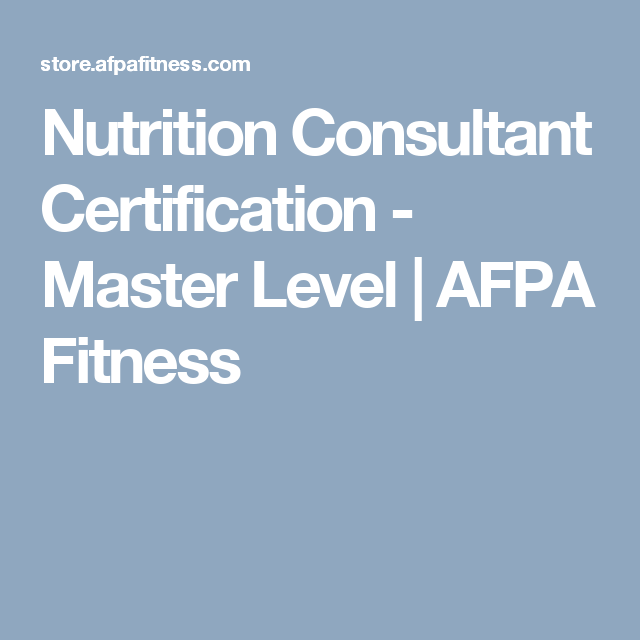 Nutrition Consultant Certification Master Level Health Coach