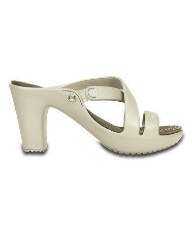 43f90c4aff3c Crocs Platinum   Pewter Cyprus IV Heel - Women
