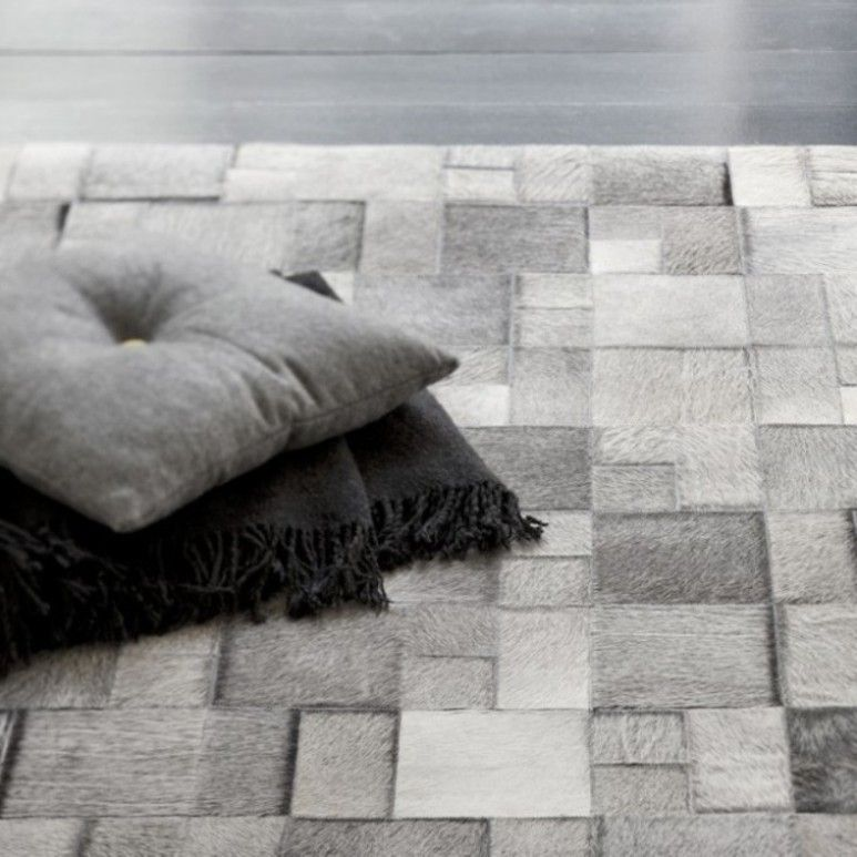 Linie Design Brilliant Leather Rug Cowhide And