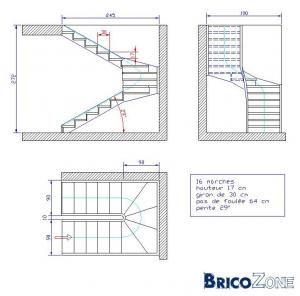 escalier avec palier escalier pinterest palier escaliers et je souhaite. Black Bedroom Furniture Sets. Home Design Ideas
