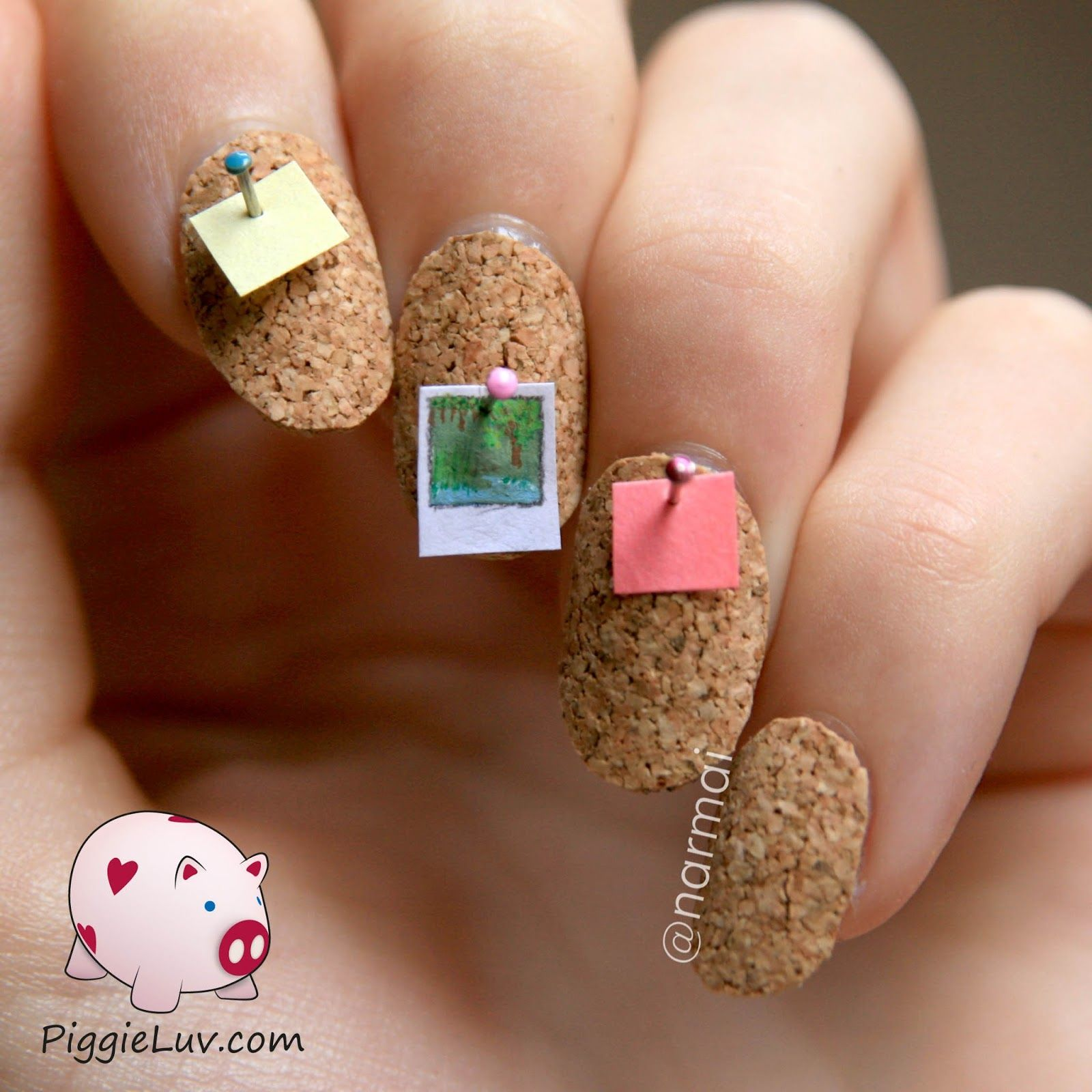 Cork board 3D nail art | Dollhouses, Grandmothers and Egg