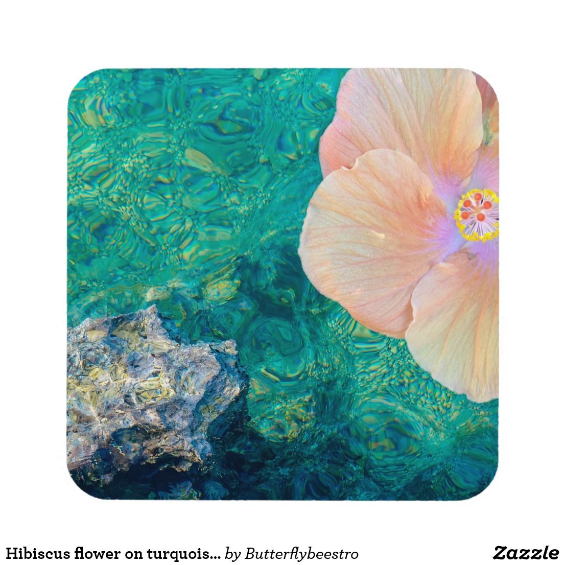 Hibiscus Flower On Turquoise Water Coaster The Products I Have