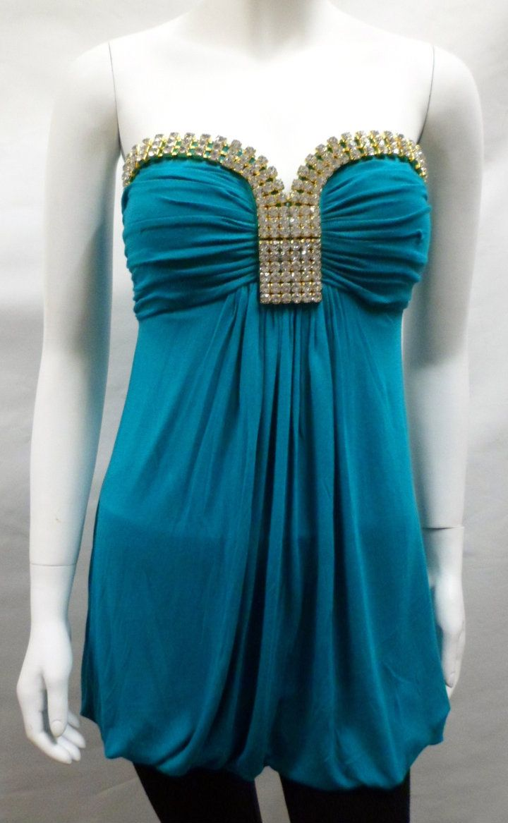 SOS Fashion Store - Ex New Look Green Diamante Top, £9.99 (http ...