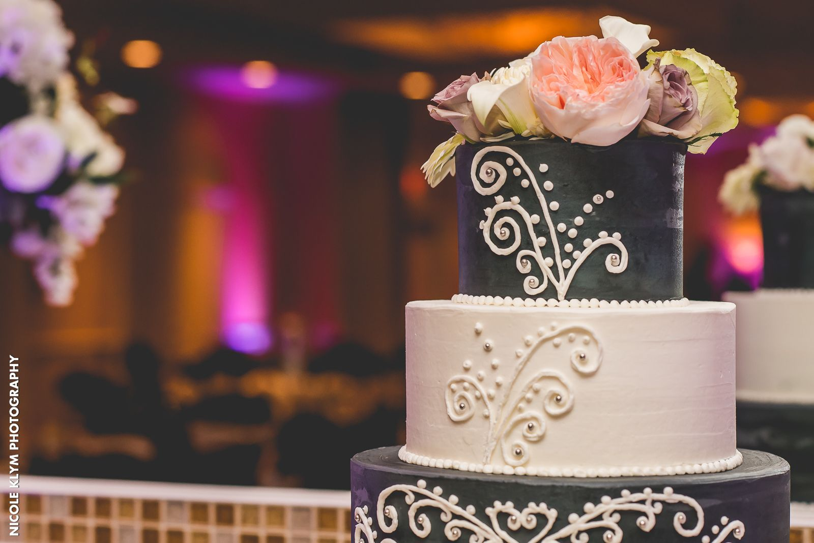 A Beautiful Wedding Cake By Local Bakery Chocolate Carousel