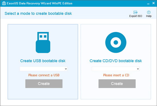How to run EaseUS Data Recovery Wizard from WinPE bootable disk? | h