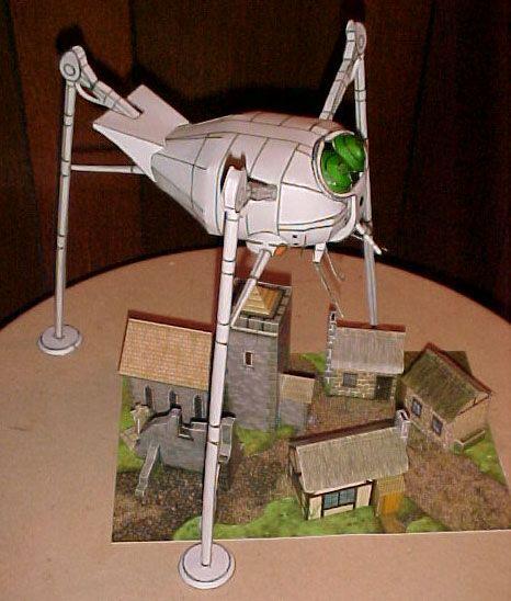 Cut & Paste Sci-Fi: Martian Tripod | sci- fi | Pinterest ...