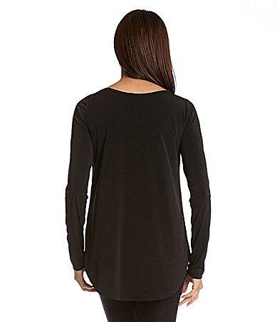 Karen Kane Blue Lunar Houndstooth Stripe Top available from Dillard's #Karen_Kane #Navy #Blue #Lunar #Houndstooth #Stripe #Top  #Fashion #KarenKane #Womens_Fashion #Dillards