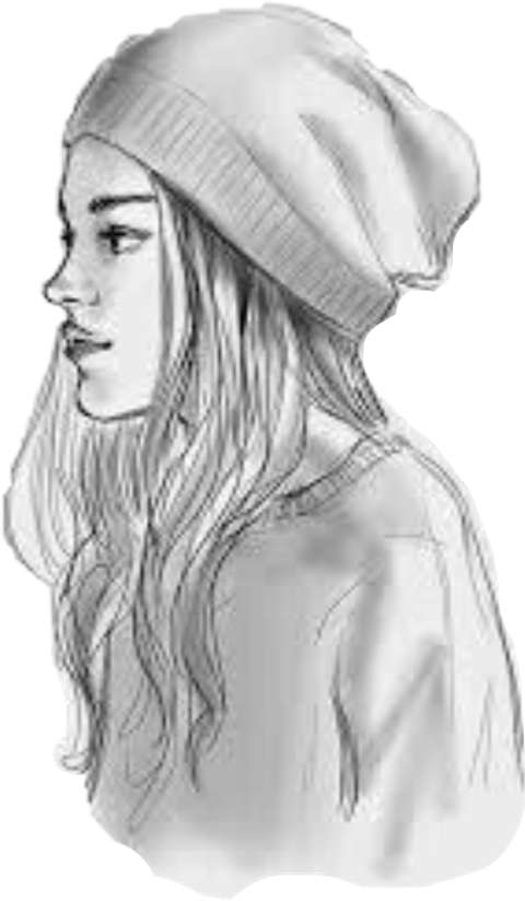 girl beanie drawing cute freetoedit