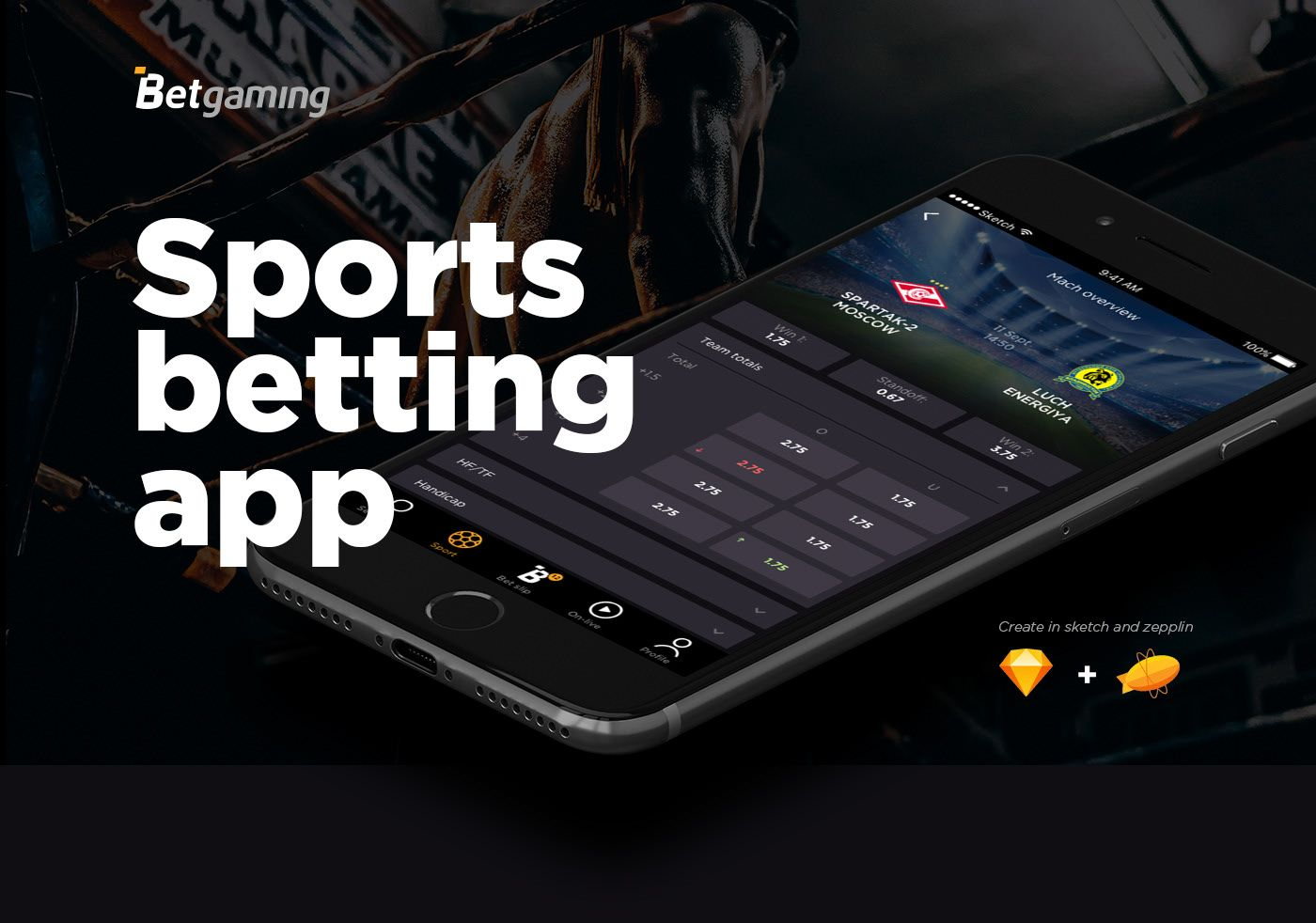 Betgaming sports betting app on Behance Sports betting