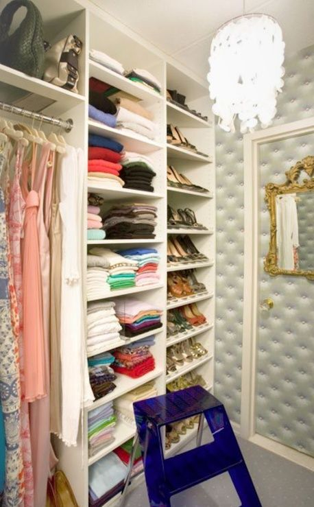 This sort of reminds me of Marjorie Merriweather Post's closet at her home in Van Ness, which I must say was lovely. - B