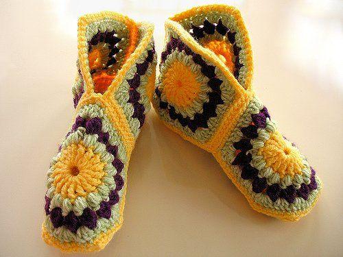 Patron Crochet Zapatillas Granny - Patrones Crochet | tejidos ...