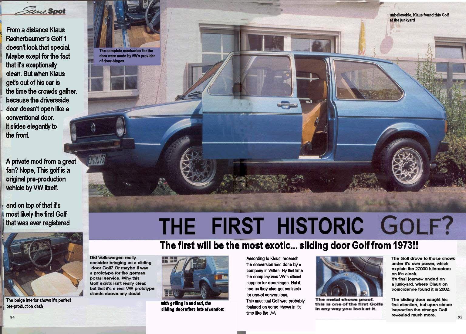 Og 1974 Volkswagen Vw Golf Mk1 Original Pre Production Model