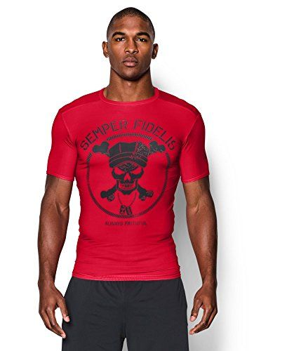 426ad93ab75 Under Armour Mens UA Freedom Marines Compression Shirt Medium Red   Click  on the image for