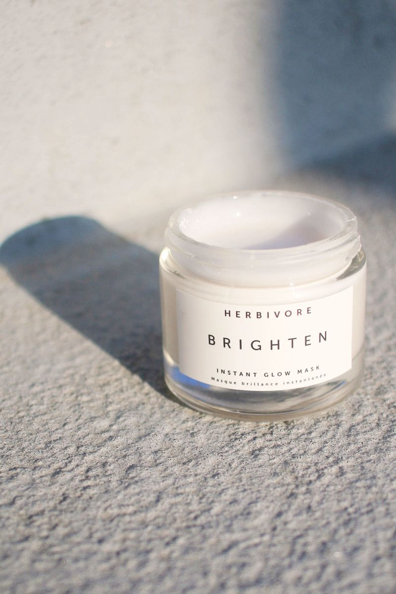 Herbivore Brighten Pineapple Enzyme + Gemstone Instant Glow Mask.