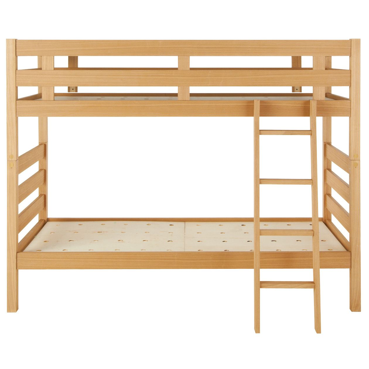 オーク材2段ベッド 幅87.5×奥行204×高さ157.5 | 無印良品
