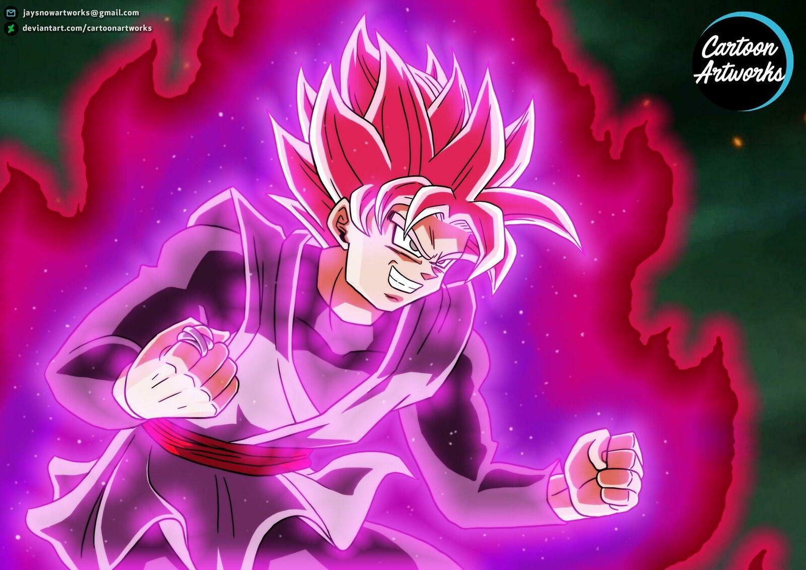 Goku Black Super Saiyan Rose Cartoon Artworks On Artstation At Https Www Artstation Com Artwork 3o8jdm Goku Black Super Saiyan Rose Goku Black Super Saiyan