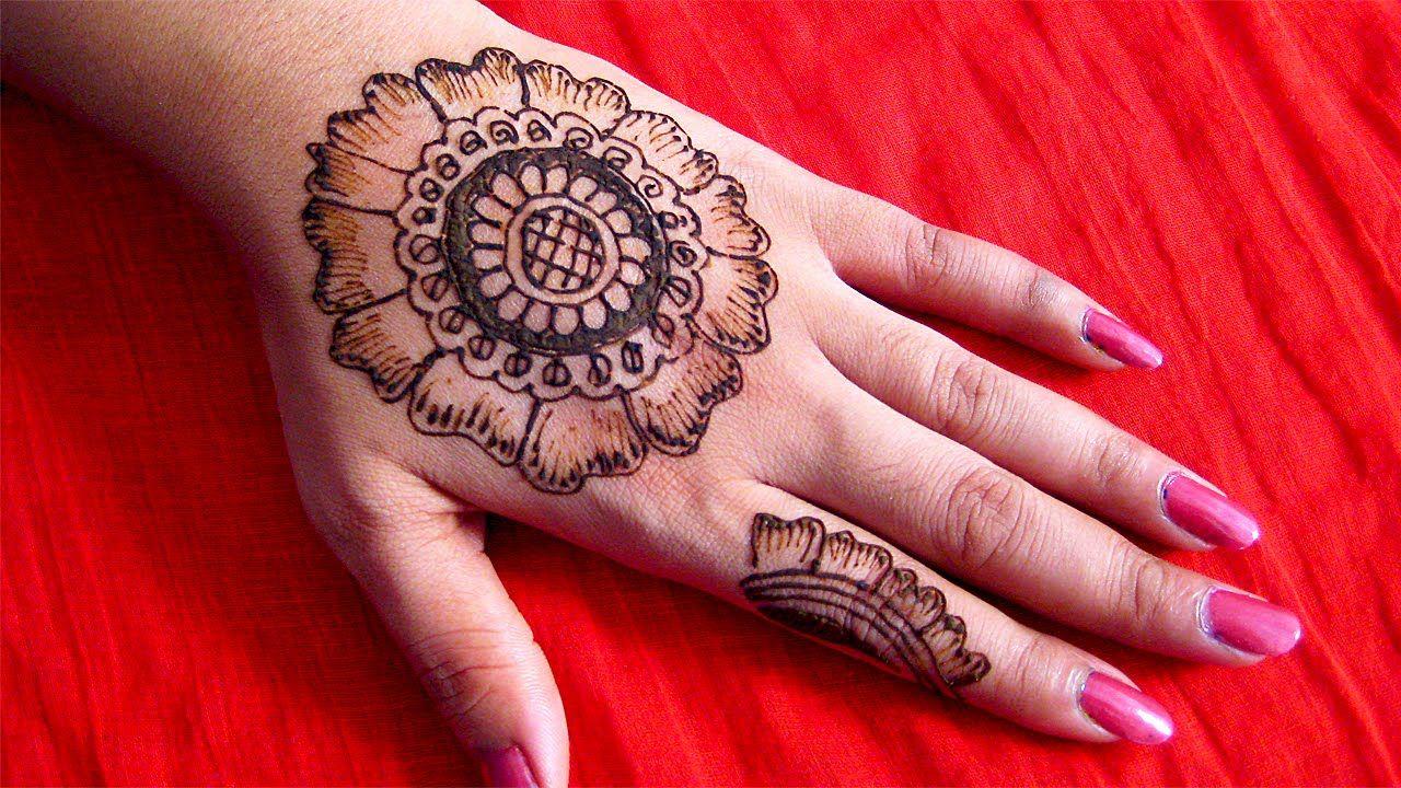 Mehndi Diya Design : Arabic mehndi design for diwali with model image in canada